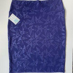 NEW LuLaRoe Cassie Pencil Skirt 2XL Purple Birds